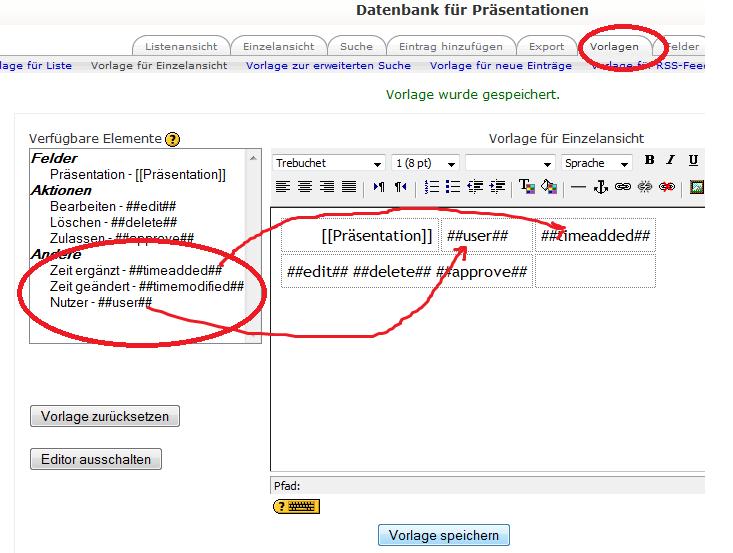 Wie erstelle ich eine Datenbank in Moodle? - E-Learning Zentrum