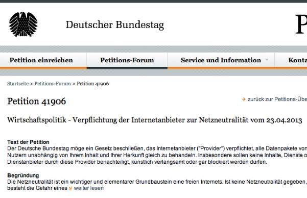 Netzneutralität?!