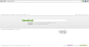 Ein Screenshot der Suchmaske von benefind.de