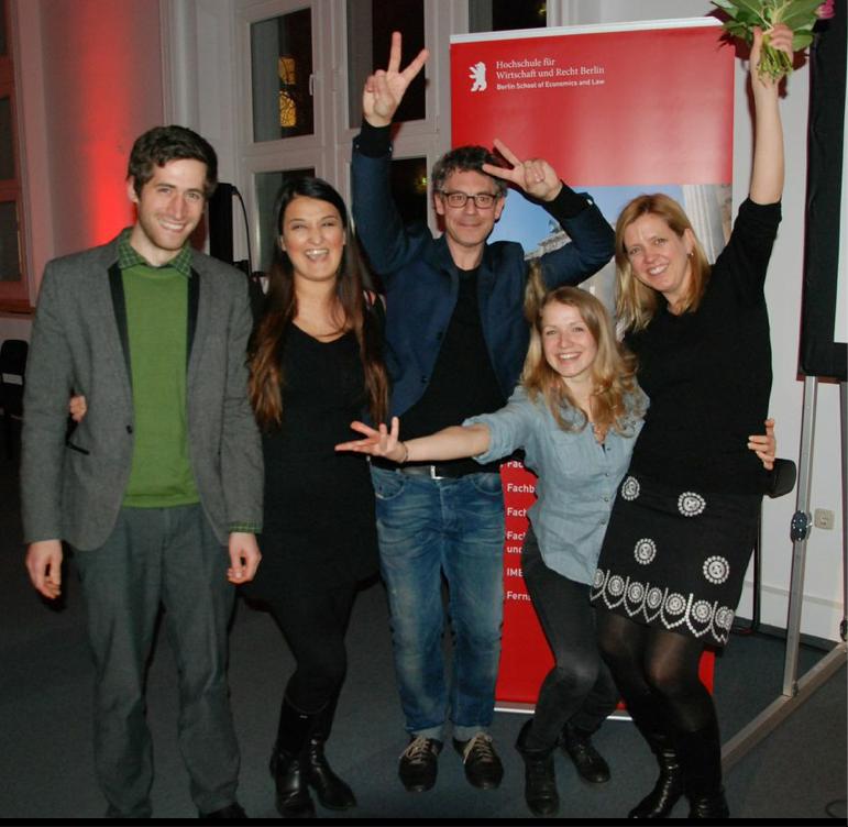 Von links: Michael Grafits, Özlem Yilzid, Frank Habermann, Jalda Reißig, Stefanie Quade