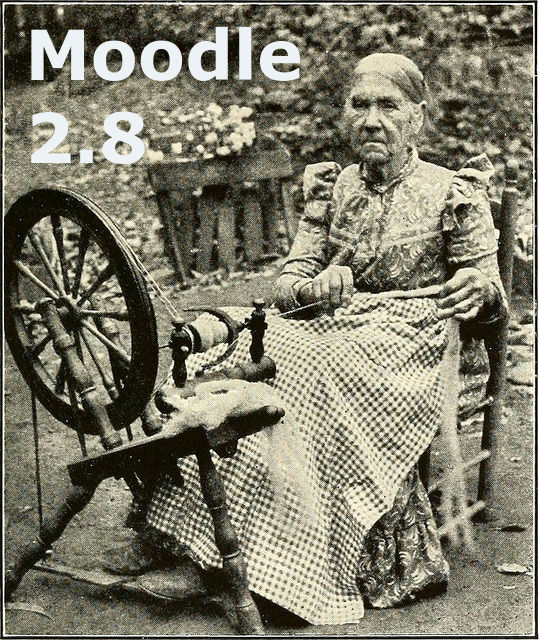old woman spinning wheel public domain-moodle 2.8