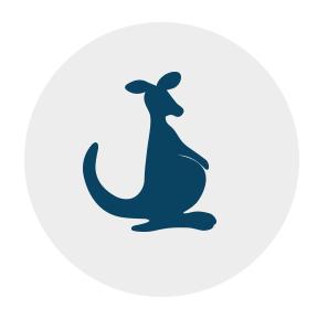 Das Känguru und seine Dateien im Beutel