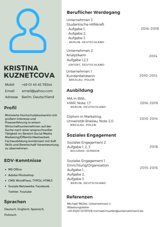 Lebenslauf Mit Infografiken Kreativ Darstellen E Learning Zentrum