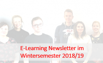E-Learning-Newsletter im Wintersemester 2018/2019
