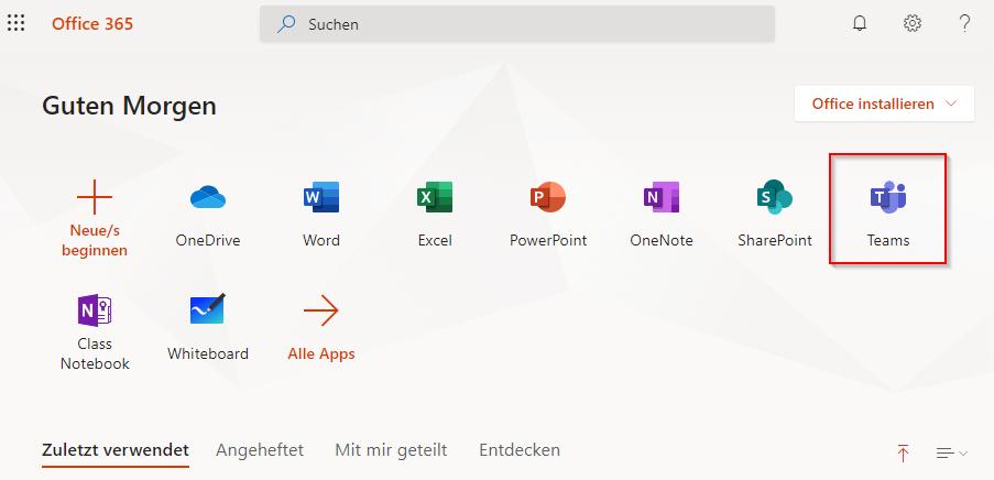 Microsoft Dashboard