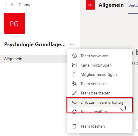 Teammitglieder auswählen - Schritt 3